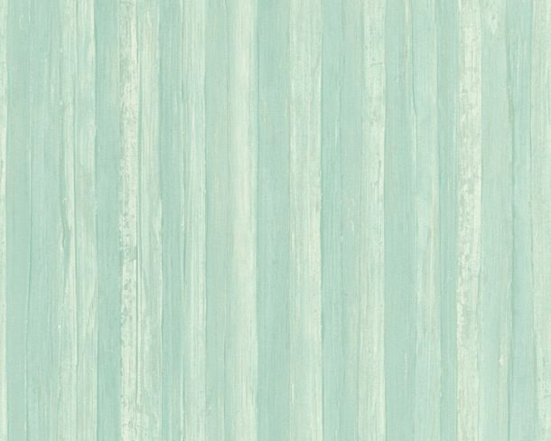 Wallpaper wooden board AS Creation turquoise 32714-4