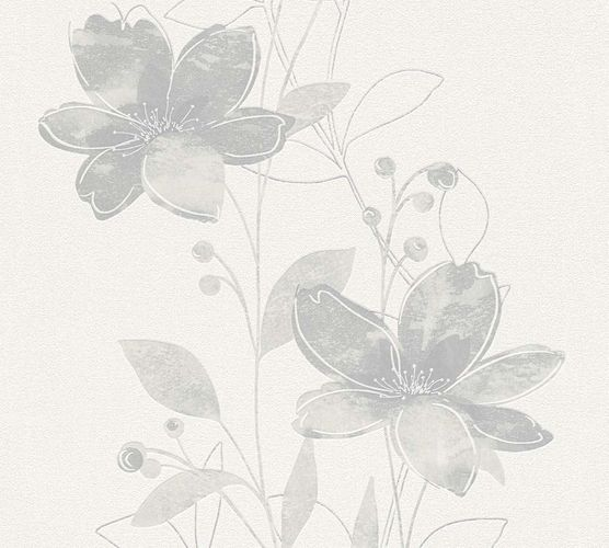 Wallpaper nature floral cream grey 32471-2 online kaufen
