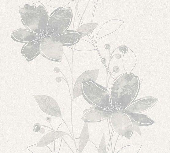 Wallpaper nature floral cream grey 32471-2 online kaufen