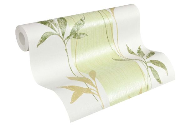 Wallpaper floral stripes green metallic 32654-2 online kaufen