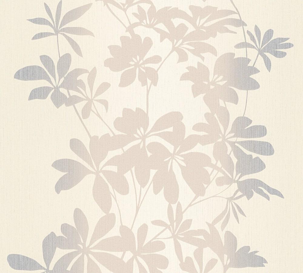 tapete floral as creation beige creme metallic 32584 1. Black Bedroom Furniture Sets. Home Design Ideas