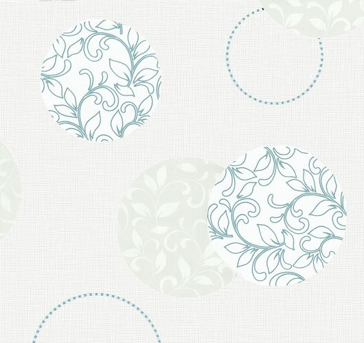Wallpaper circle floral P+S Blues grey blue 13489-20 online kaufen