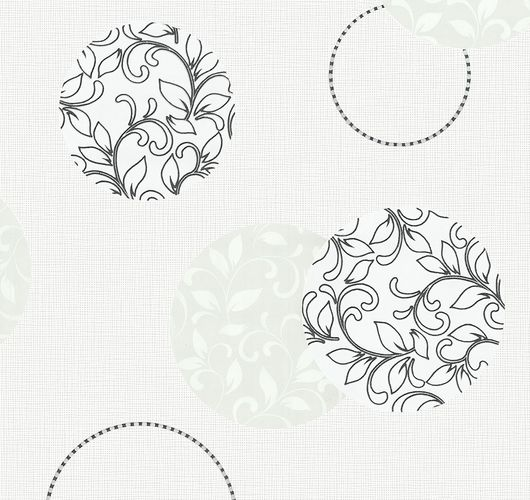 Wallpaper circle floral P+S Blues white grey 13489-30 online kaufen