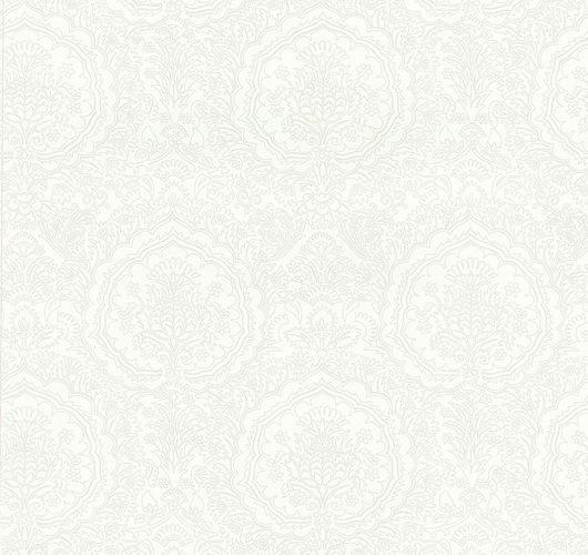 Wallpaper baroque metallic white P+S Infinity 13481-20 online kaufen