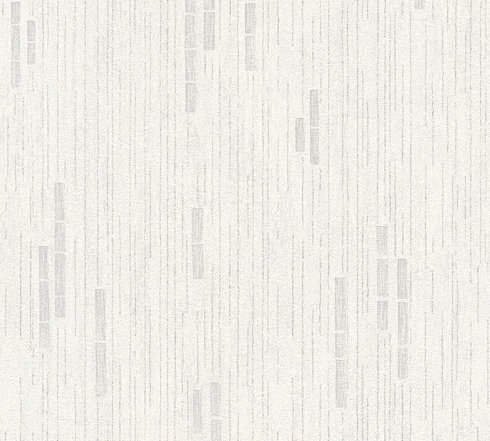 tapete struktur as creation grau wei metallic 31850 2. Black Bedroom Furniture Sets. Home Design Ideas
