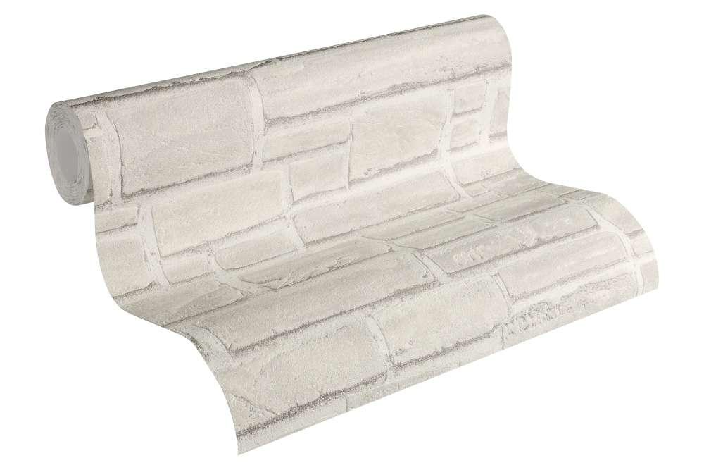 vliestapete stein optik naturstein grau wei as creation 6623 16 2 42 1qm ebay. Black Bedroom Furniture Sets. Home Design Ideas
