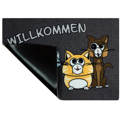 Door Mat Dirt Barrier Mat Cats Pets Animal Comic 50x70cm online kaufen