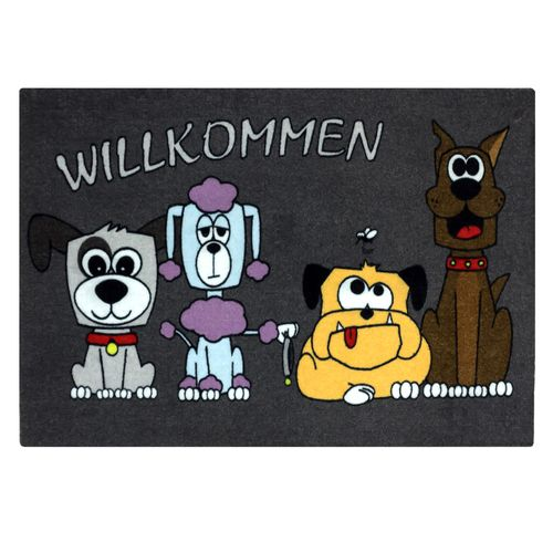 Door Mat Dirt Barrier Mat Dogs Pets Animal Comic 50x70cm