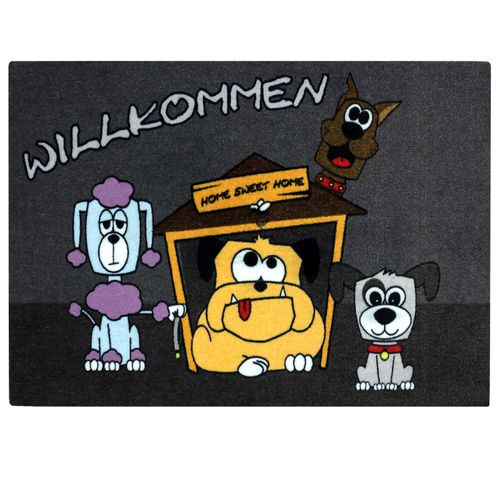 Door Mat Dirt Barrier Mat dogs Pets Welcome Comic 50x70cm online kaufen