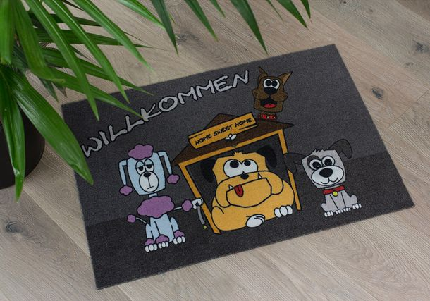 Door Mat Dirt Barrier Mat dogs Pets Welcome Comic 50x70cm online kaufen