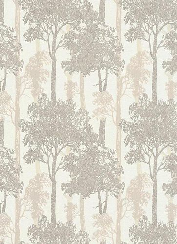 Non-woven wallpaper nature tree cream Erismann 5965-11