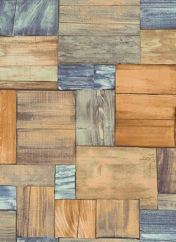Wallpaper wood brown blue Erismann Prime Time 7354-04