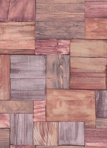 Wallpaper wood brown pink Erismann Prime Time 7354-17