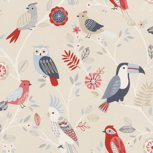 Kids Wallpaper Owl Bird Parrot Rasch colourful 293005