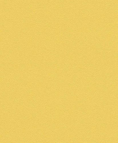 Non-Woven Wallpaper Plain Structure yellow Rasch 489514