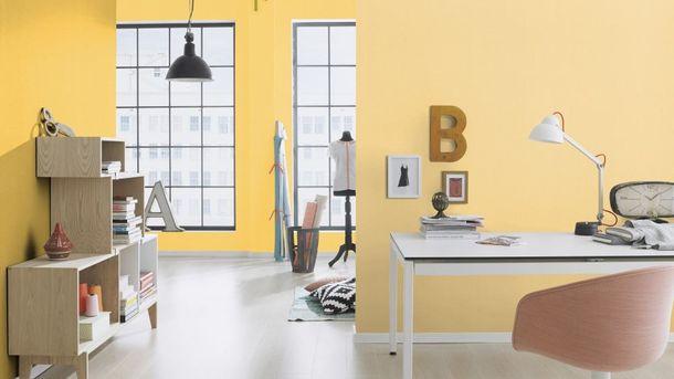 Non-woven wallpaper textured Rasch Prego yellow 740127 online kaufen