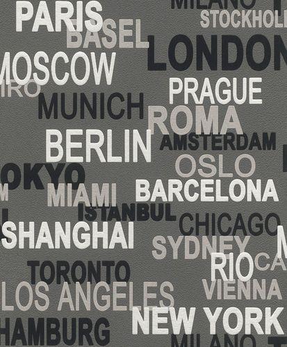 Rasch Wallpaper Rasch 766738 Urban City Wallcover Lettering online kaufen