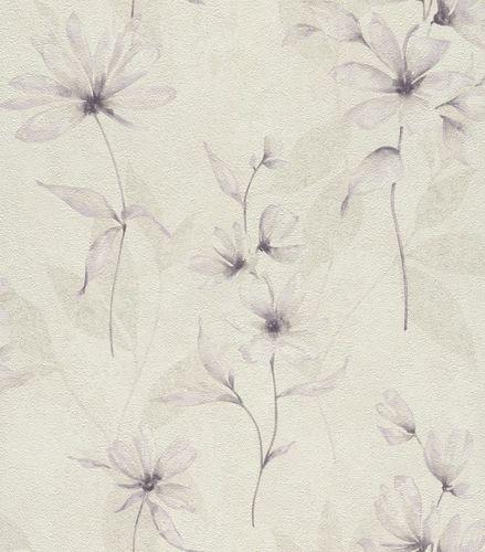 Wallpaper floral flowers Rasch Lucera cream 608427