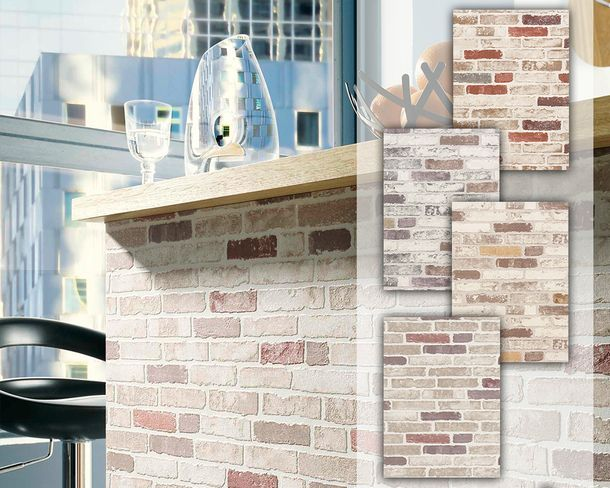 Wallpaper stones stone wall bricks natural Erismann 6703 online kaufen