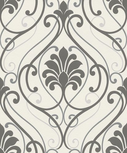 Wallpaper baroque Rasch Brooklyn white grey 933826
