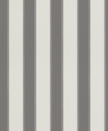 Wallpaper stripes striped Rasch Brooklyn grey 933932