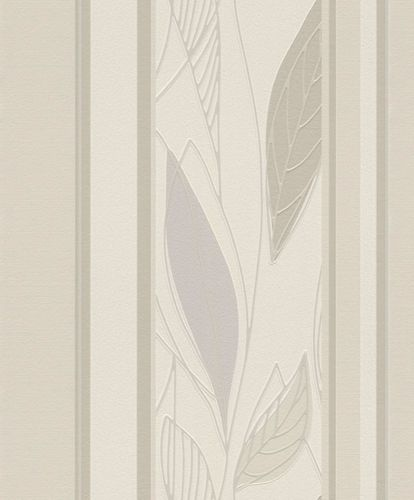 Wallpaper leafs stripes shine Rasch Brooklyn cream 932706