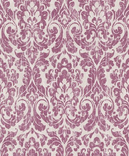 Wallpaper Rasch baroque vintage cream beige pink 516234