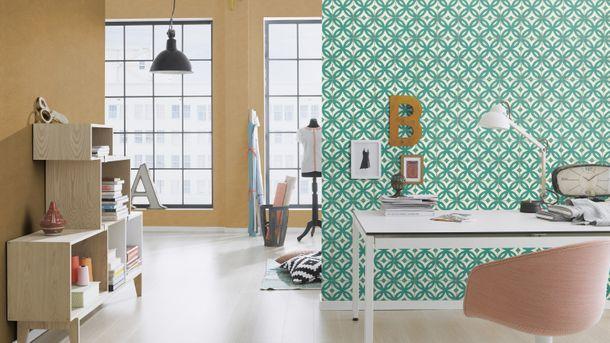 Wallpaper tile tiles Rasch Pure Vintage green 524727 online kaufen