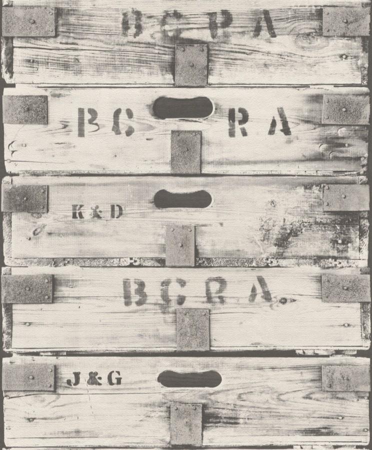 Einzigartig Tapete Holz Kasten Vintage Rasch schwarzweiß 930313 SP04