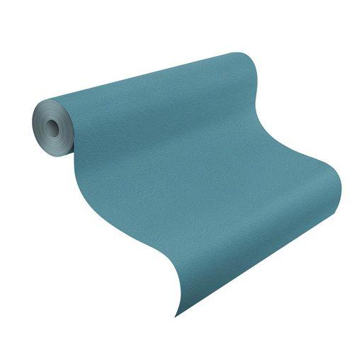 Non-Woven Wallpaper Plain Structure petrol Rasch 469103 online kaufen