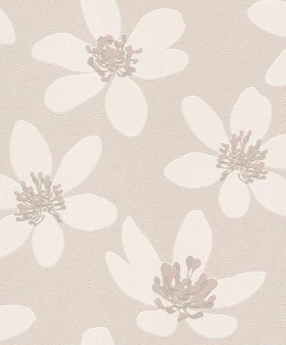 Non-woven wallpaper flowers Rasch Prego grey 700145