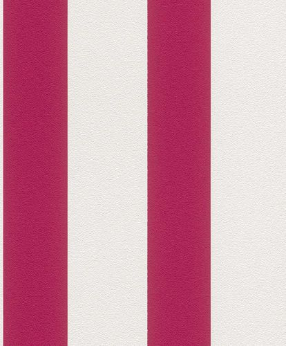 Non-woven wallpaper stripes Rasch Prego pink 700206