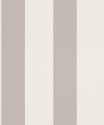 Non-woven wallpaper stripes Rasch Prego grey 700251