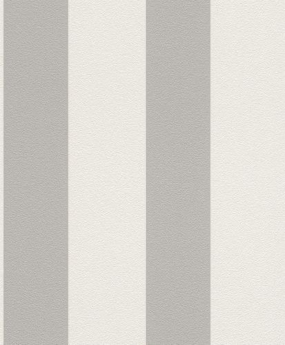 Vliestapete Streifen Gestreift Rasch Prego Creme Grau 700251