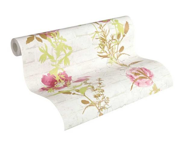 Wallpaper flowers stone white red AS Creation 32800-4 online kaufen