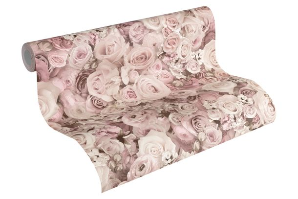 Wallpaper roses flower gloss rose AS Creation 32722-2 online kaufen