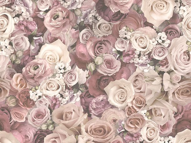 Wallpaper roses flower gloss rose AS Creation 32722-2 online kaufen