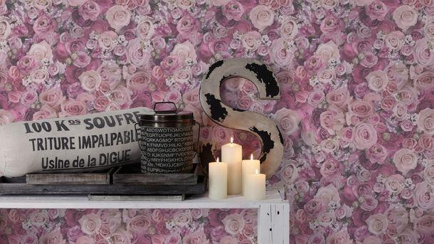 Wallpaper roses flower gloss purple AS Creation 32722-4 online kaufen