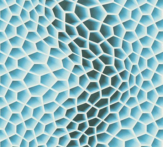 Wallpaper Mac Stopa graphic comb wave 3D blue 32709-2