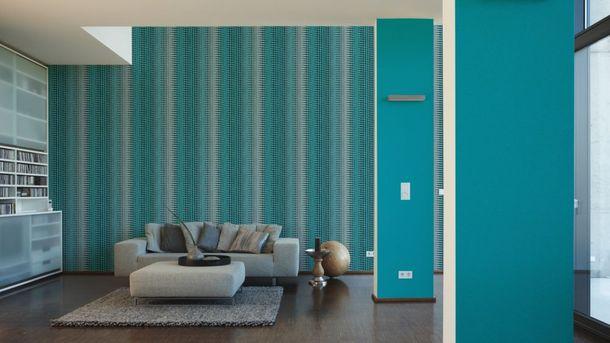 Wallpaper Mac Stopa graphic stripes retro blue 32727-2 online kaufen