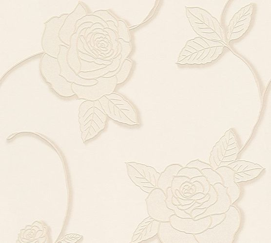 Wallpaper roses flower floral cream livingwalls 32832-3 online kaufen