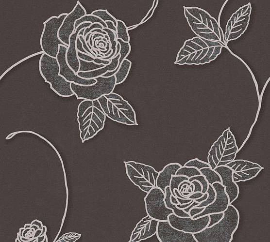 Wallpaper roses flower floral brown livingwalls 32832-6 online kaufen