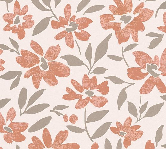 Wallpaper floral flowers brown-red cream livingwalls 32833-4 online kaufen