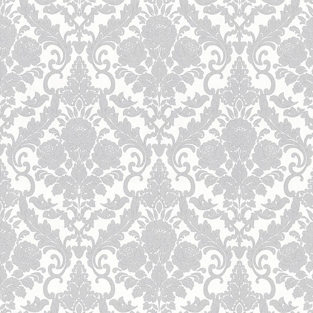 vliestapete barock klassisch grau wei p s 13396 30. Black Bedroom Furniture Sets. Home Design Ideas