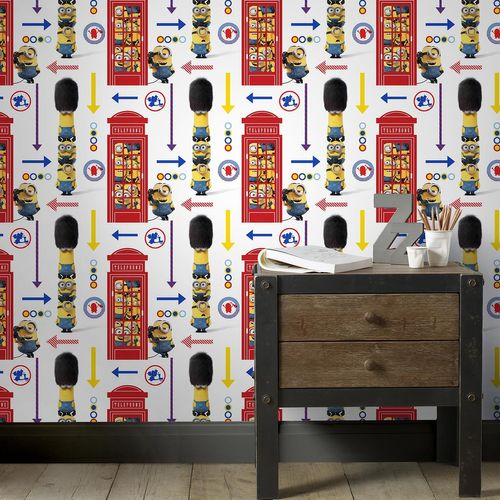 Wallpaper Minions Minion Kids England Phone Box 103145 online kaufen
