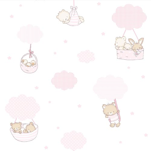 Kids Wallpaper animal cloud Rasch Textil rose 330013 online kaufen