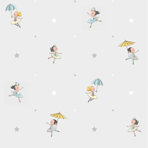 Kids Wallpaper ballerina World Wide Walls grey blue 330068 online kaufen