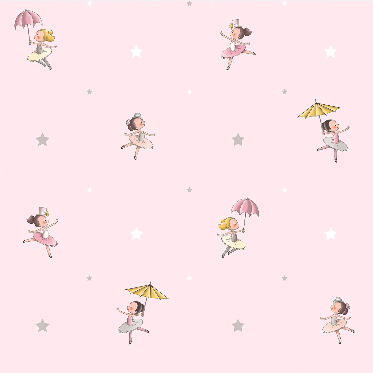 kids wallpaper ballerina rasch textil rose grey 330075