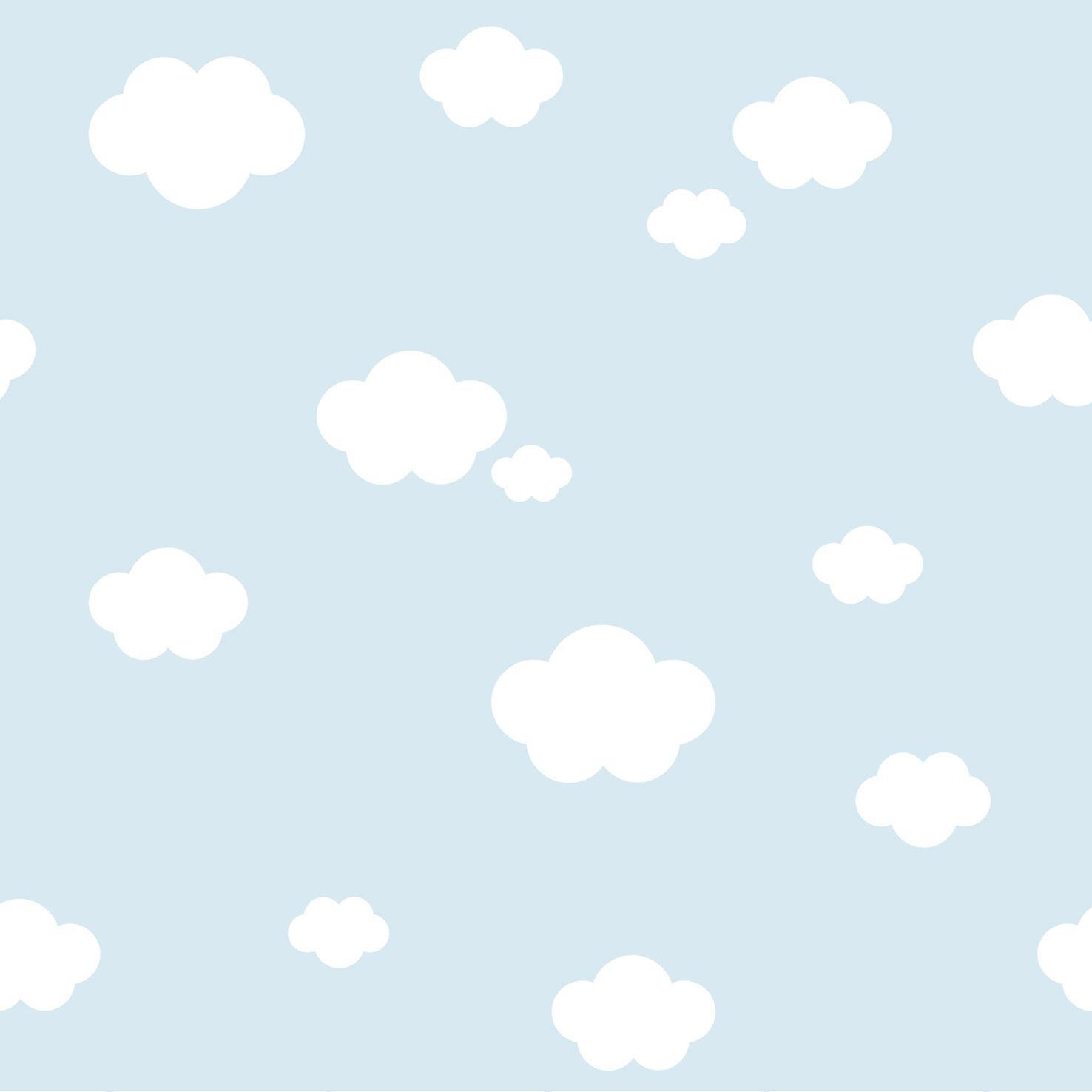 Kindertapete Wolken Himmel Rasch Textil blau 330235
