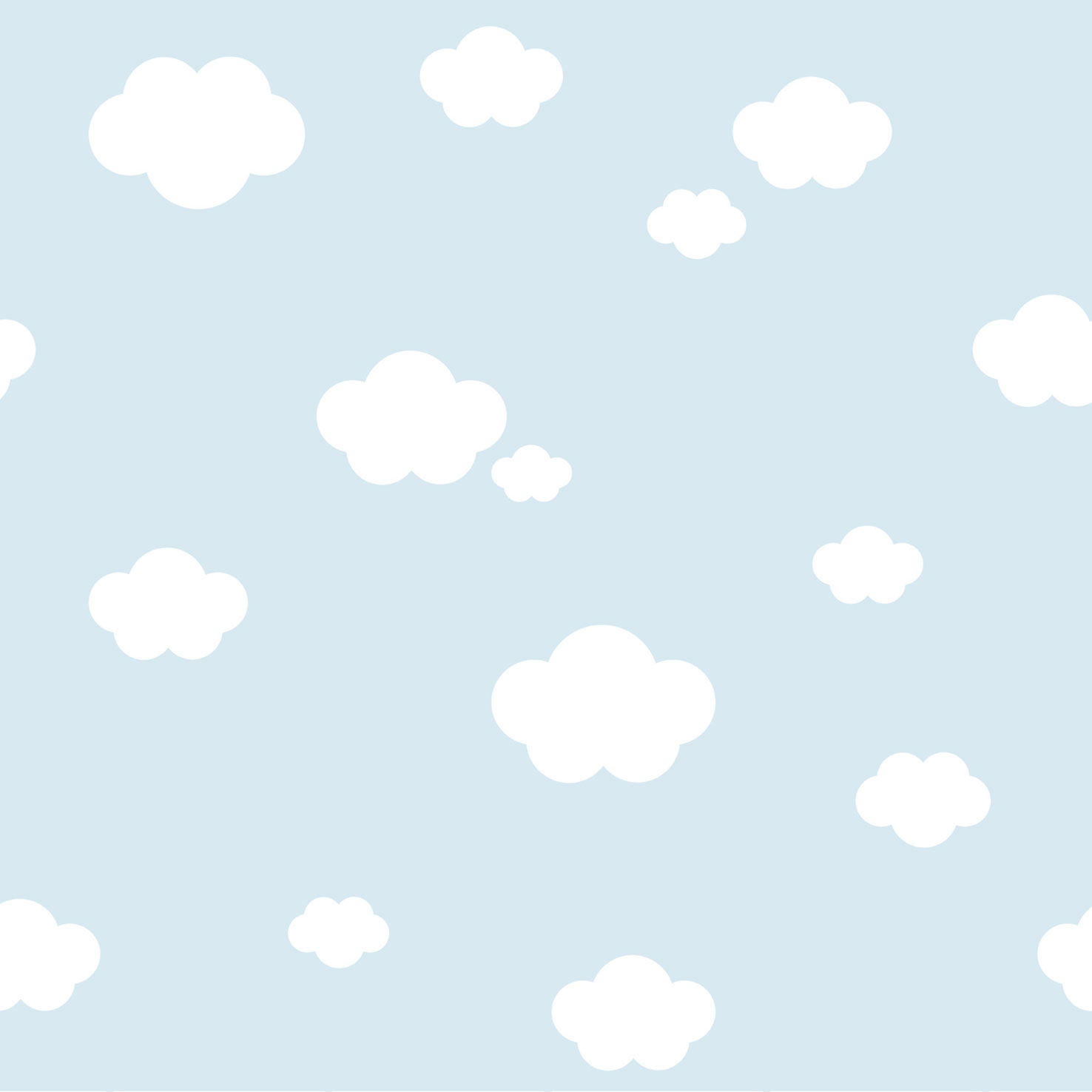 Kids Wallpaper Cloud Sky World Wide Walls Blue 330235